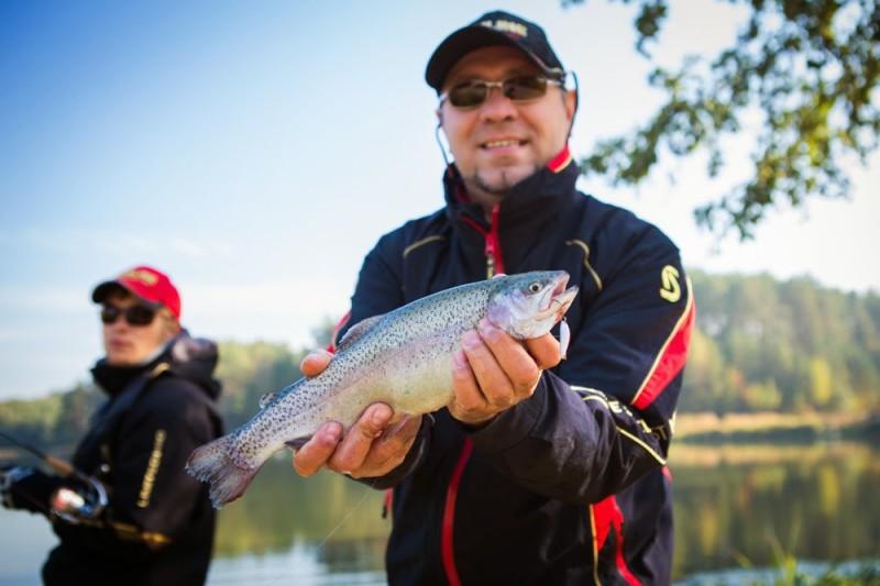 пруд для ловли форели